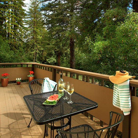 West Sonoma Inn and Spa, forrest views